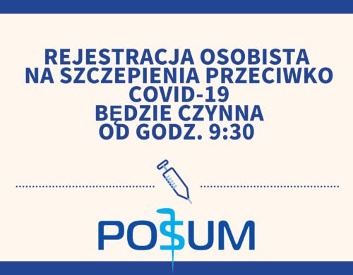 Rejestracja na szczepienia przeciw COVID-19